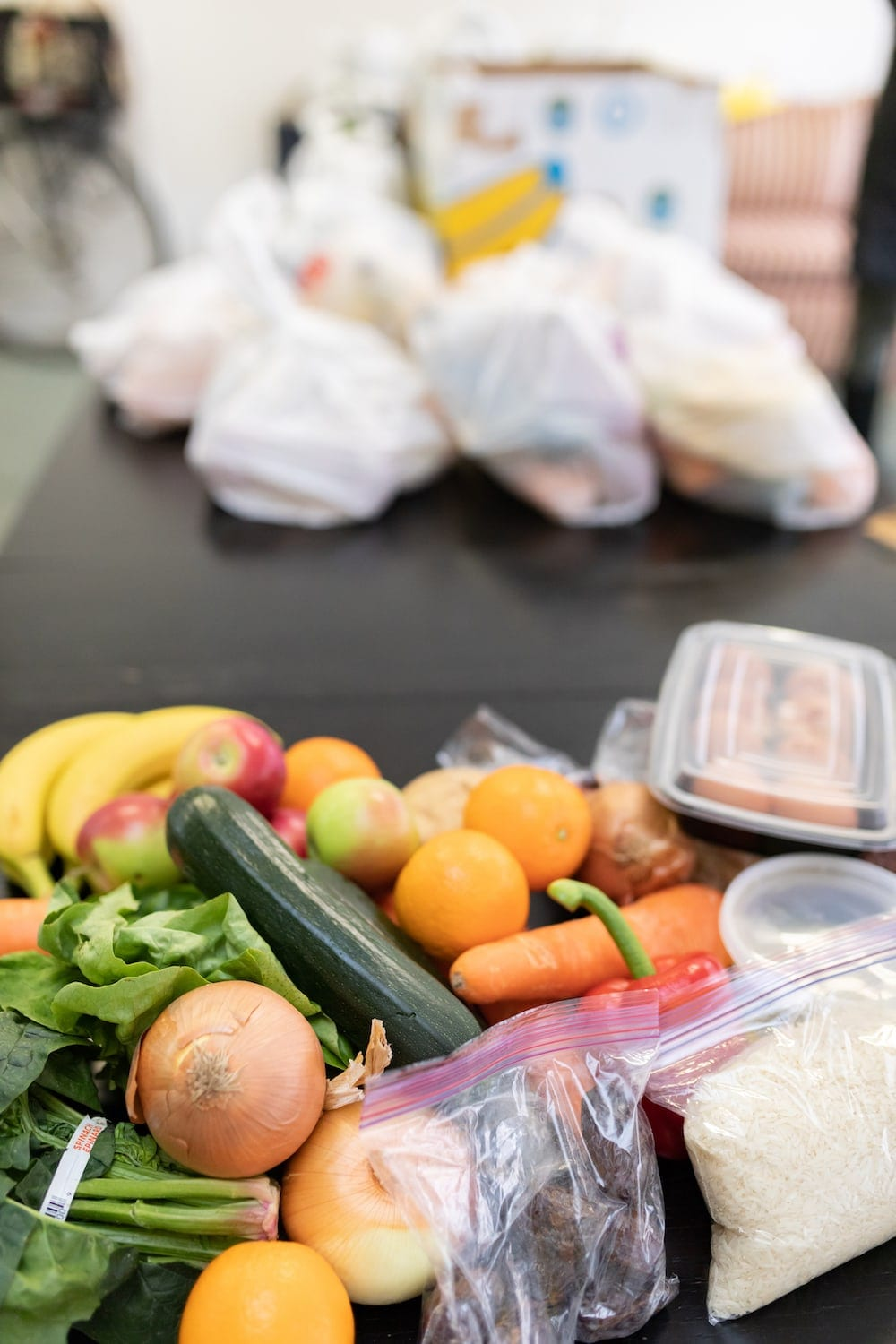 Picture of bags and fresh food